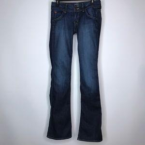 "Hudson Jeans Tag Size 27 Waist Measures 28"""